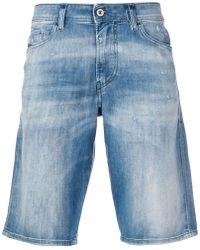 DIESEL - Slim-fit Bleached Shorts - Lyst