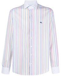 Etro Camisa con estampado de rayas - Blanco