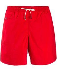 Brioni Flap Pocket Swim Shorts - Red