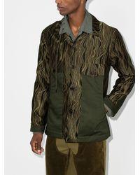 Nicholas Daley Swirl Pattern Shirt Jacket - Green