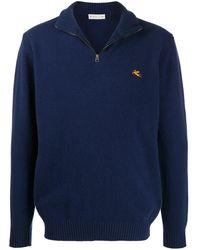 Etro - Пуловер С Вышитым Логотипом - Lyst