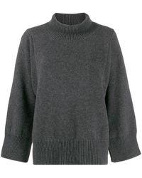 Fabiana Filippi Ribbed Neck Sweater - Gray