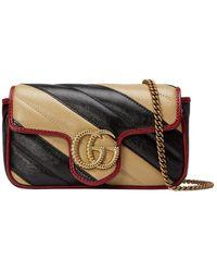 Gucci - Mini GG Marmont Shoulder Bag - Lyst