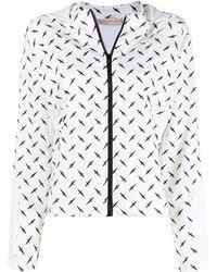 Cesare Paciotti Logo-print Hooded Jacket - White