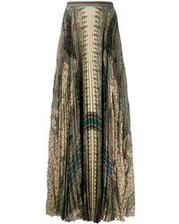Etro Floral Print Skirt - Groen