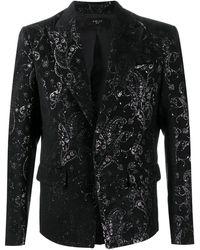 Amiri Paisley Embroidered Blazer - Black