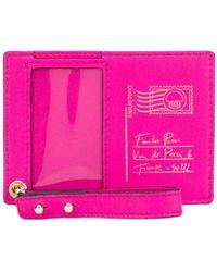 Emilio Pucci Funda para tarjeta de identificación con diseño de postal - Rosa