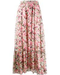 Pinko Falda larga con estampado floral - Rosa