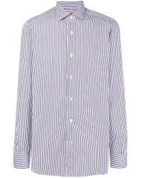 Isaia - Striped Shirt - Lyst