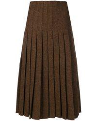 Pringle of Scotland - Pleated Tweed Skirt - Lyst