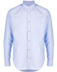 Moncler Рубашка С Длинными Рукавами - Синий