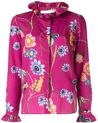 Borgo De Nor Veronica Vintage Flowers Shirt - Pink