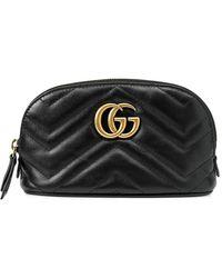 Gucci Косметичка GG Marmont - Черный