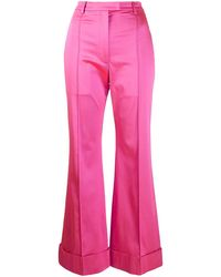 House of Holland Womens Pink Tailored Satin Pants