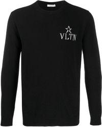 Valentino - Vltn Star クルーネックプルオーバー - Lyst