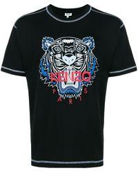 KENZO Tiger プリント Tシャツ - ブラック