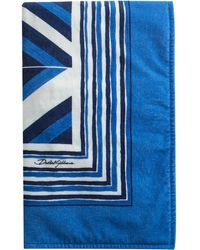 Dolce & Gabbana Strandlaken Met Logoprint - Blauw