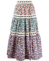 Marc Jacobs フローラル Aラインスカート - マルチカラー