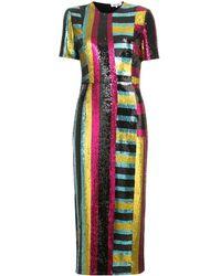 Diane von Furstenberg Short-sleeve Sequin Dress - Многоцветный