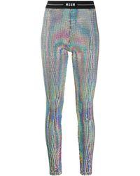 MSGM Iriserende legging - Blauw