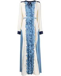 Ports 1961 ラッフルトリム ドレス - ブルー