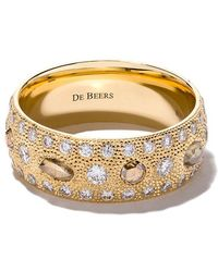 De Beers - 18kt Yellow Gold Talisman Diamond Band - Lyst