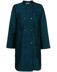 ODEEH - Leopard Print Single-breasted Coat - Lyst