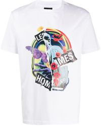 Les Hommes - グラフィック Tシャツ - Lyst