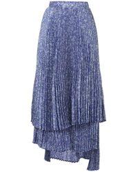 CLU - Asymmetric Pleated Skirt - Lyst