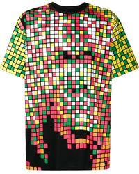 KTZ スクエアパターン Tシャツ - ブラック