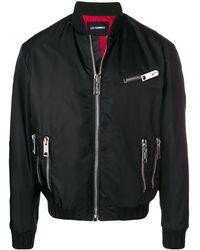 Les Hommes Zip Detail Bomber Jacket - ブラック