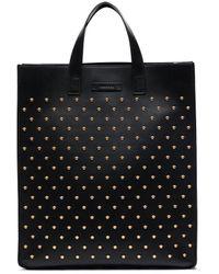 Versace メドゥーサ スタッズ トートバッグ - ブラック