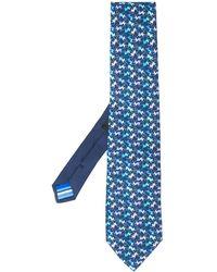 Etro Krawatte mit Affen-Print - Blau