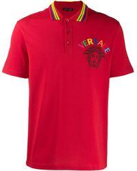 Versace メデューサロゴ ポロシャツ - レッド