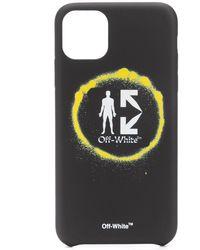 Off-White c/o Virgil Abloh Logo Print Iphone 11 Pro Case - Black