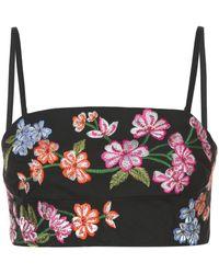 Josie Natori Embroidered Bralette - Black