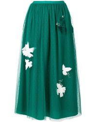 RED Valentino   Embellished Layer Skirt   Lyst