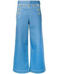 Tory Burch - Wide Leg Jeans - Lyst