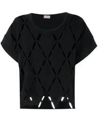 Mrz カットアウト Tシャツ - ブラック
