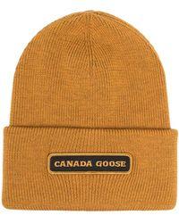 Canada Goose Шапка Бини С Нашивкой-логотипом - Желтый