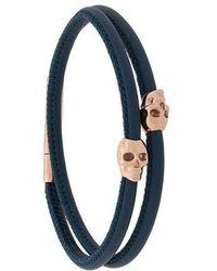 Northskull - Double Skull Bracelet - Lyst