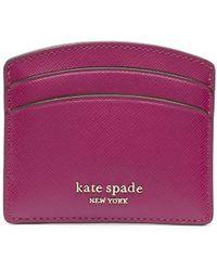 Kate Spade カードケース - パープル
