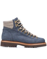 Brunello Cucinelli Lace-up Ankle Boots - Blue