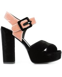 Deimille Sandalen mit Schnallenverschluss - Schwarz