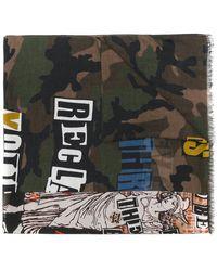 Valentino - Garavani Printed Camouflage Scarf - Lyst