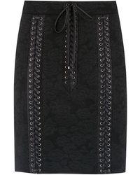 Dolce & Gabbana - Minijupe à détails de laçage - Lyst