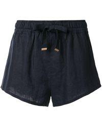 Venroy Shorts de lino - Azul