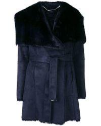 Liu Jo - Fur Lined Belted Jacket - Lyst