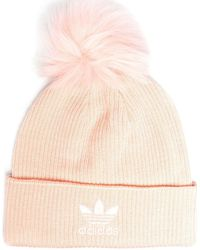 adidas ロゴパッチ ビーニー - ピンク