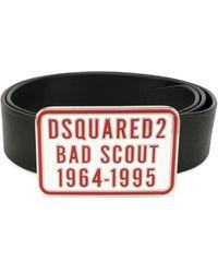 DSquared² Ceinture Bad Scout - Noir